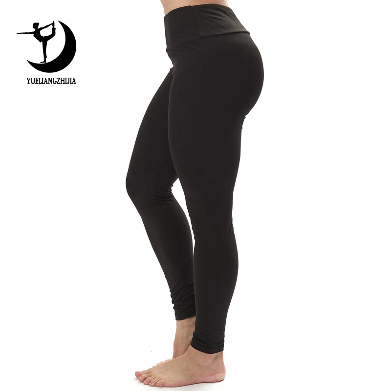 2019 Fashion New Design Fitness   Leggings   for Women Hot Sale Solid Black Color   Legging   Plus Size Elastic Workout Stretch Pants