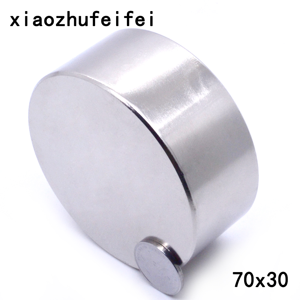 Aimant 1 pcs/lot N52 Dia 70x30mm chaude ronde aimant Forte aimants Rare Earth Néodyme Aimant