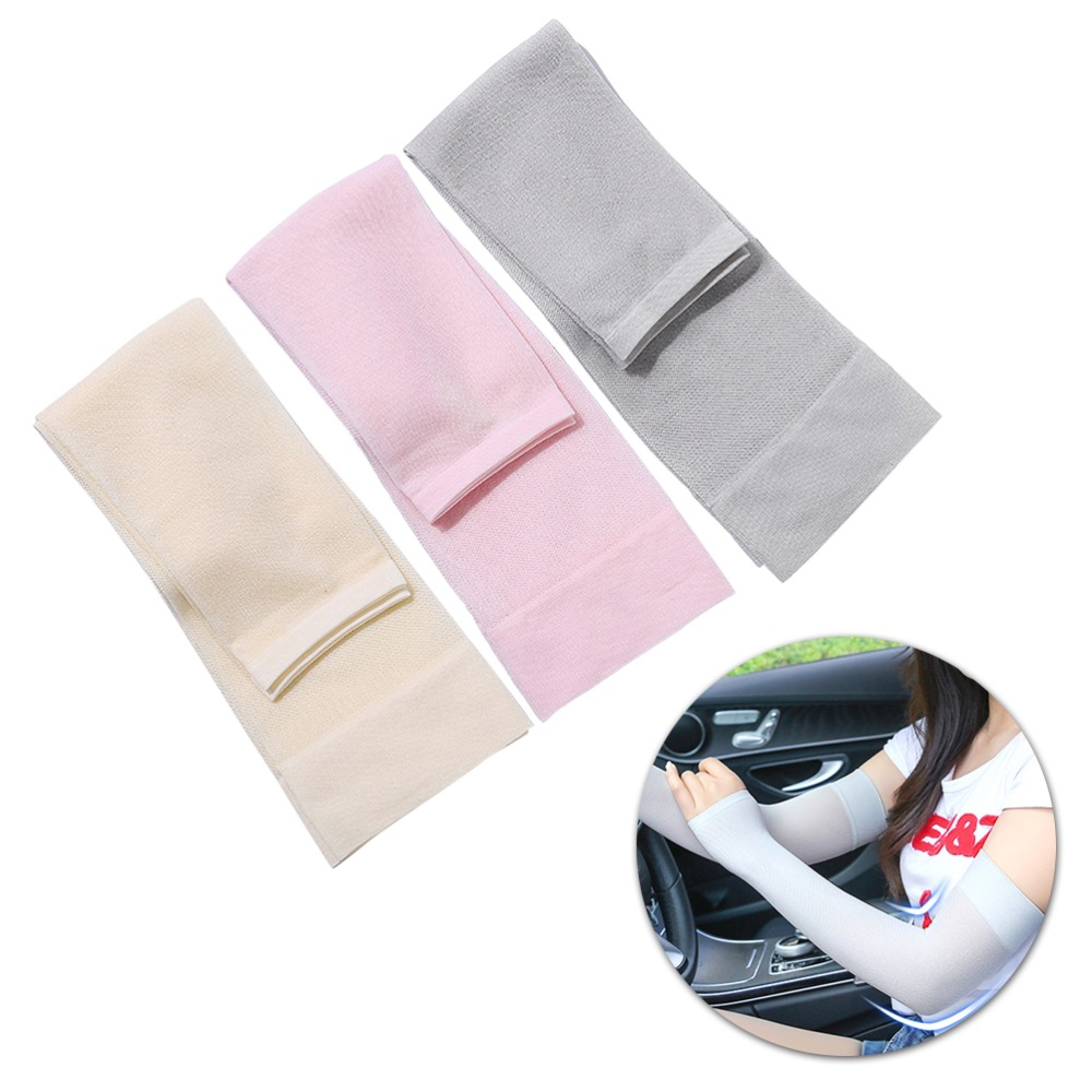 3 pairs of UV Protection Sleeve Stretchy Arm Cover Breathable Elbow Protector Elastic Elbow Brace for Sun Protection