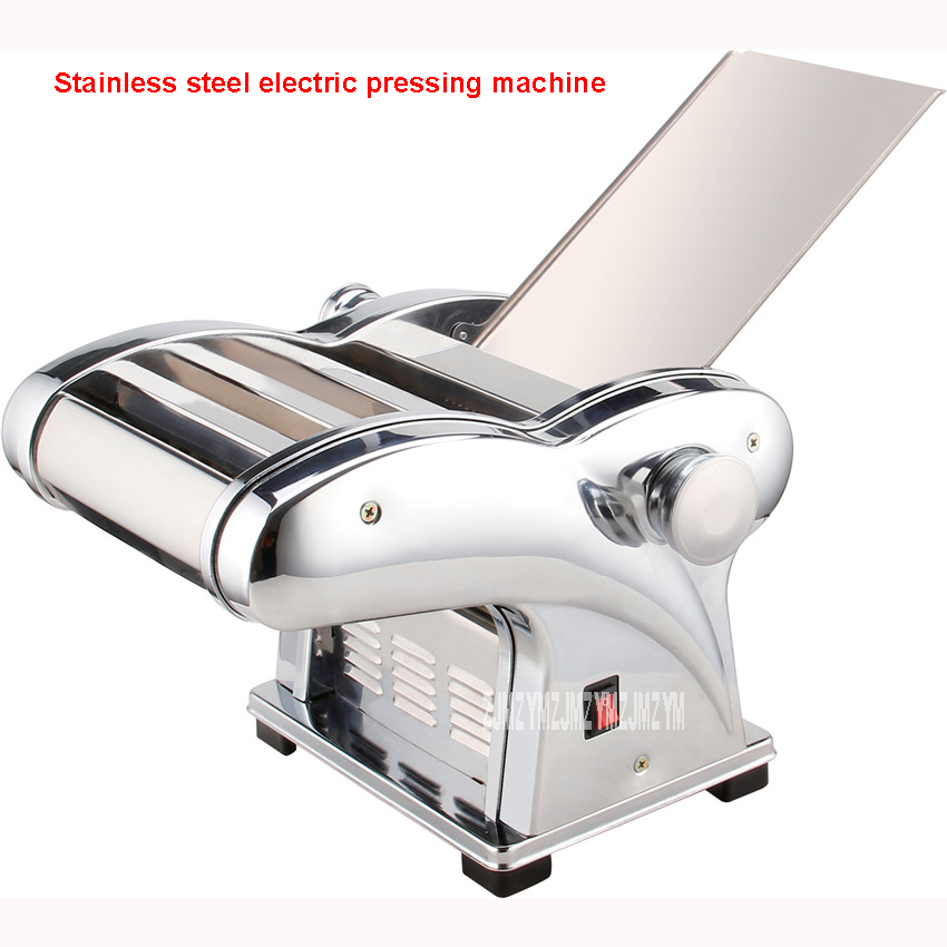 1pc 430 Stainless steel household electrical pasta machine pressing machine 135W commercial mechanism pasta machine 220V/ 50Hz