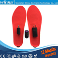 Rechargeable built-in battery electric heating insoles RED 35-40 2300mAh