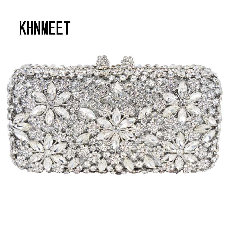 LaiSC Fashion luxury women Clutch bags flower evening bags Bridal wedding Purse pochette Golden Ladies soiree Clutch bag SC065 women evening handbag beads clutch bags wedding party bridal purse bag vintage embroidered flower ladies totes bags