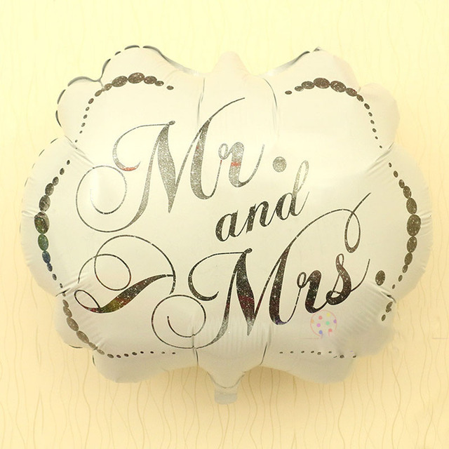 Foil Balloons Wedding Balloon Flying Custom Printed Imported Personalized Party Decoration Mr And Mrs