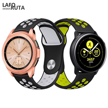 Laforuta Silicone Watch Band for Samsung Galaxy Active 42mm Strap Classic S2 20mm Quick Release