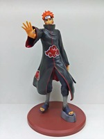 Free Shipping 10 Naruto Anime Naruto Akatsuki Pain Boxed 25cm PVC Action Figure Collection Model Doll