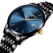 ONTHEEDGE Fashion Mens Watches Top Brand Luxury Quartz Watch Men Casual Slim Mesh Steel Waterproof Sport Watch Relogio Masculino