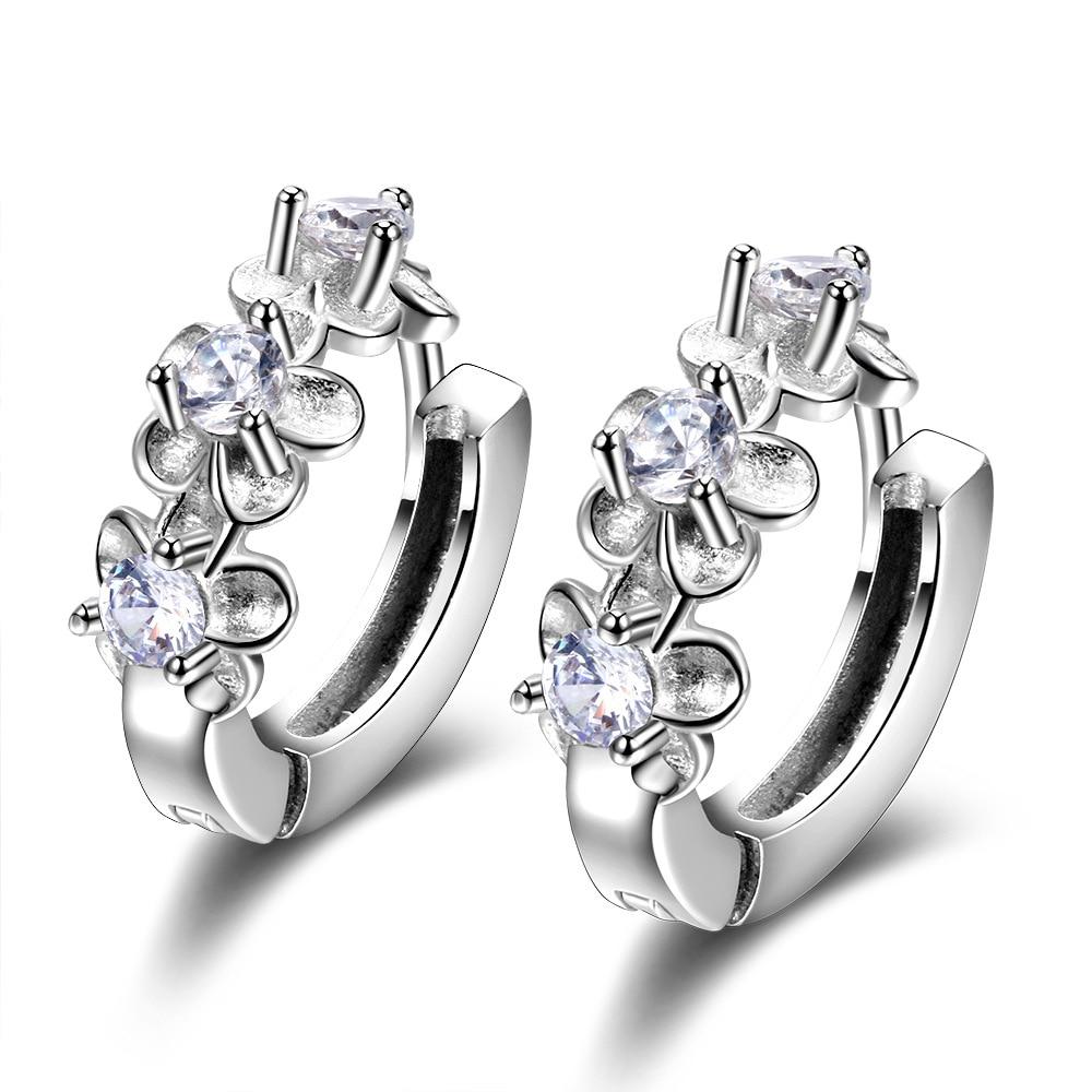 18K Gold Filled Hollow Geometry Swirl Ruby Topaz Zircon Pageant Women Earrings