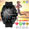 Nova originais g5 esporte heart rate monitor de fitness rastreador smartwatch smart watch mtk2502 chamada lembrete sms câmera para android ios