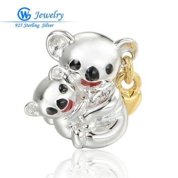 GW-abalorios de oso para el día de la madre, joyería de moda,...