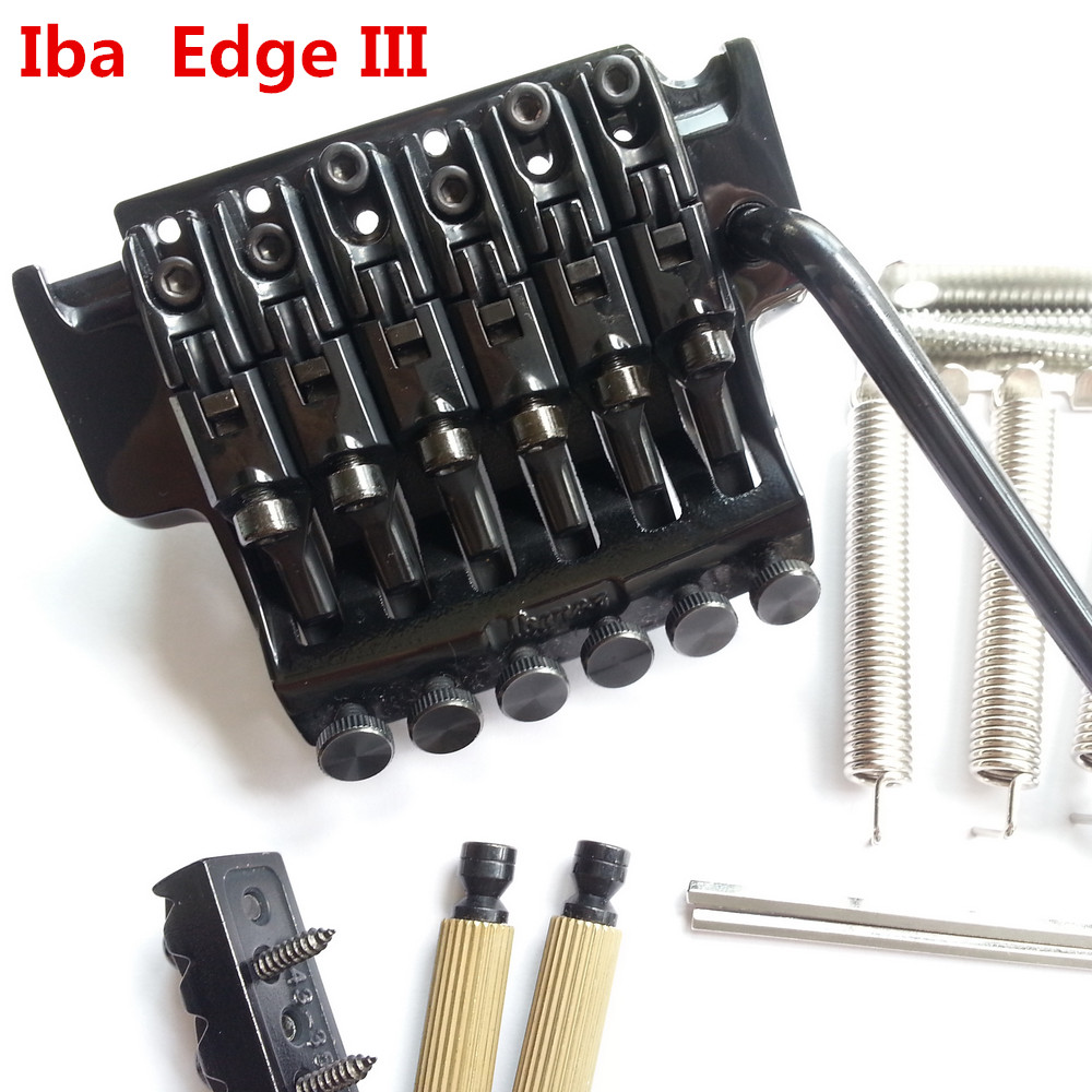 1 set Original Genuine Edge III Bridge Electric Guitar Locking Tremolo System Bridge For IBZ Black floyd rose electric guitar bridge tremolo bridge locking system gold chrome black free shipping