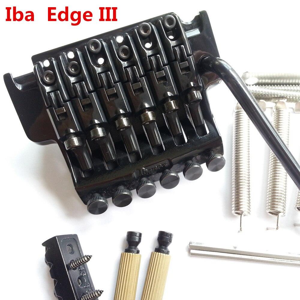 1 set Original véritable Edge III pont guitare électrique verrouillage trémolo système pont pour IBZ noir