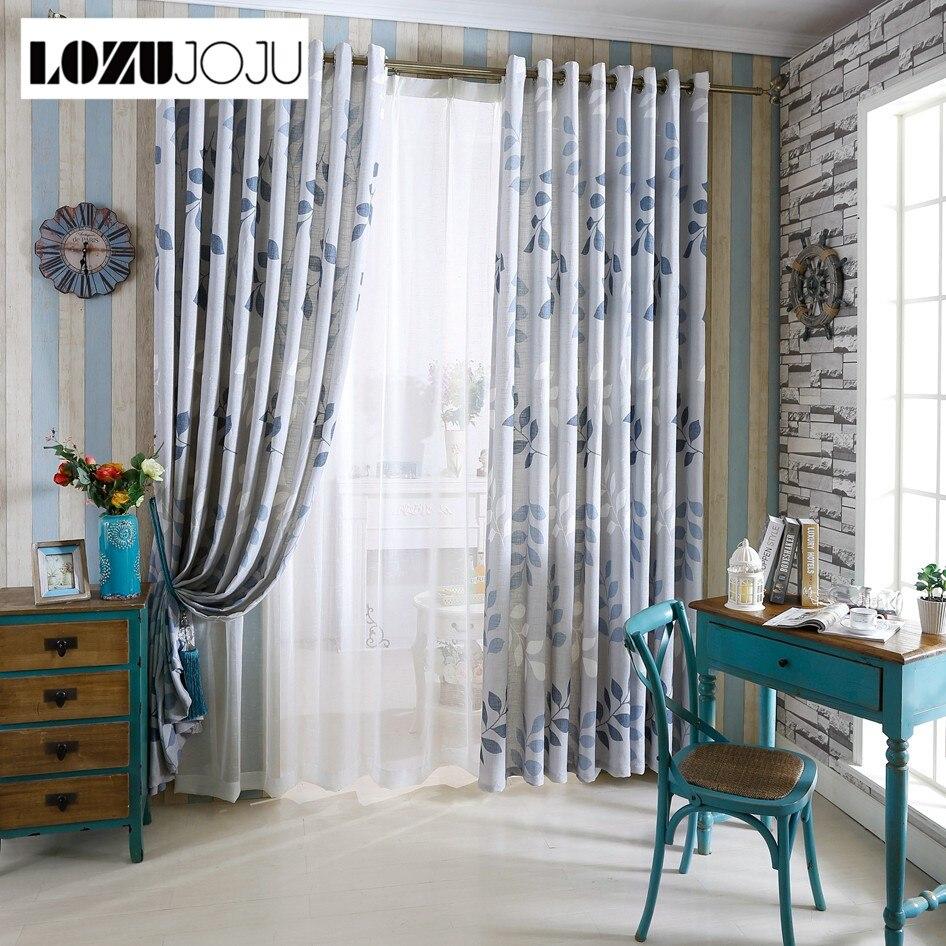 Boom gordijnen linnen voor windows blauwe gordijnen thuis keuken ...