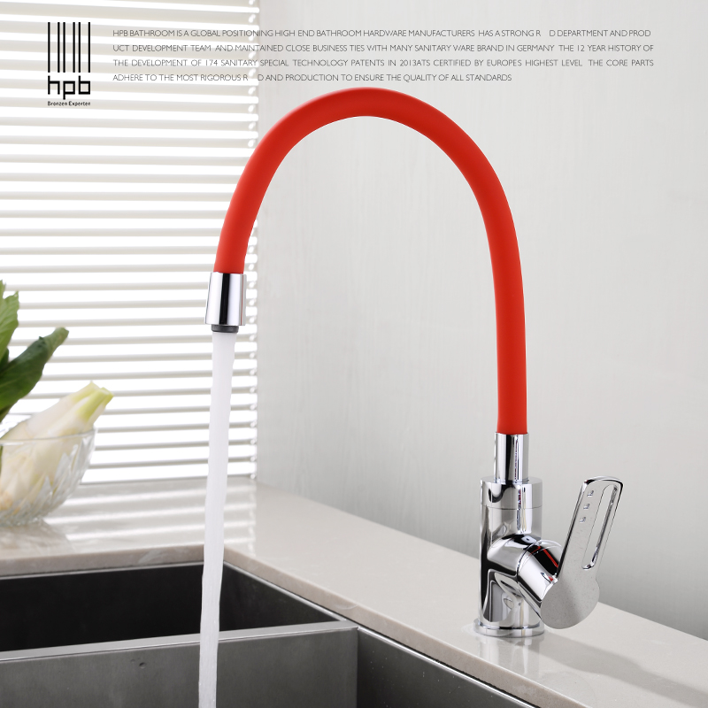 HPB Kitchen Faucet Kitchen Tap Kitchens Faucets Mixer Tap Pull Down Single Handle Single Hole Hot and Cold Water Taps HP4A18 kitchen faucets chrome color pull out kitchen sink faucet hot and cold single hole single handle two ways water outlet al 5302l