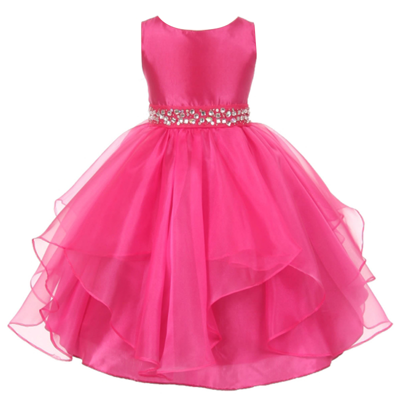 Pageant girl wedding dress girls party wear summer for Dresses to wear to a wedding for teens