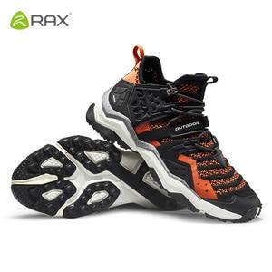 Image 3 - Rax mężczyźni oddychające buty górskie Trekking na świeżym powietrzu buty męskie sportowe trampki buty wspinaczkowe antypoślizgowe przebudzeniu buty górskie