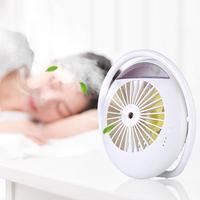 Alloet Mini Fan USB Cooling Fan Rechargeable Ventilator Mist Spray Air Cooler Ventilation Fan Home Appliances for Summer