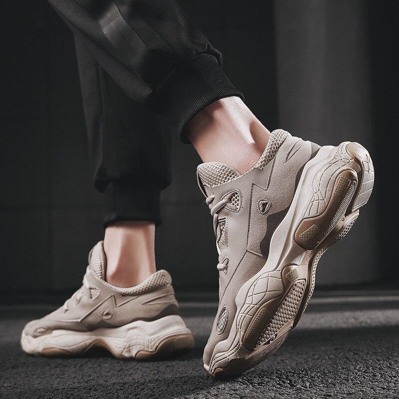 Fashion Men running Sneakers Men Platform Shoes Designer Sport Sneakers Chunky Sneakers 2019 New Dad Sneakers zapatos de hombre in Running Shoes from Sports Entertainment