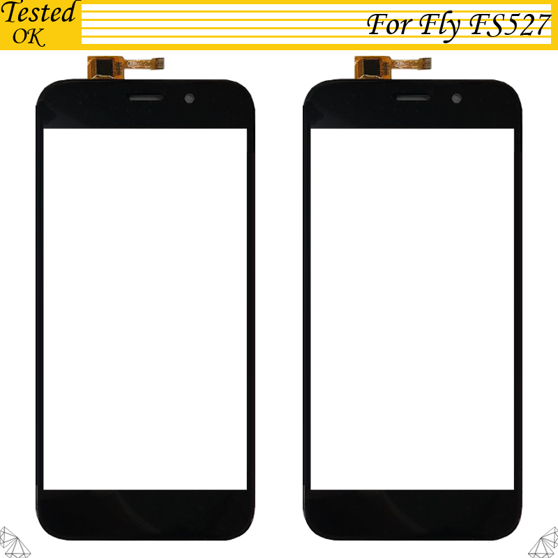 For Fly FS527 Nimbus 17 Touch Screen Panel Cellphone Parts Black 100% Tested Working For Fly FS 527 Touch Panel Sensor