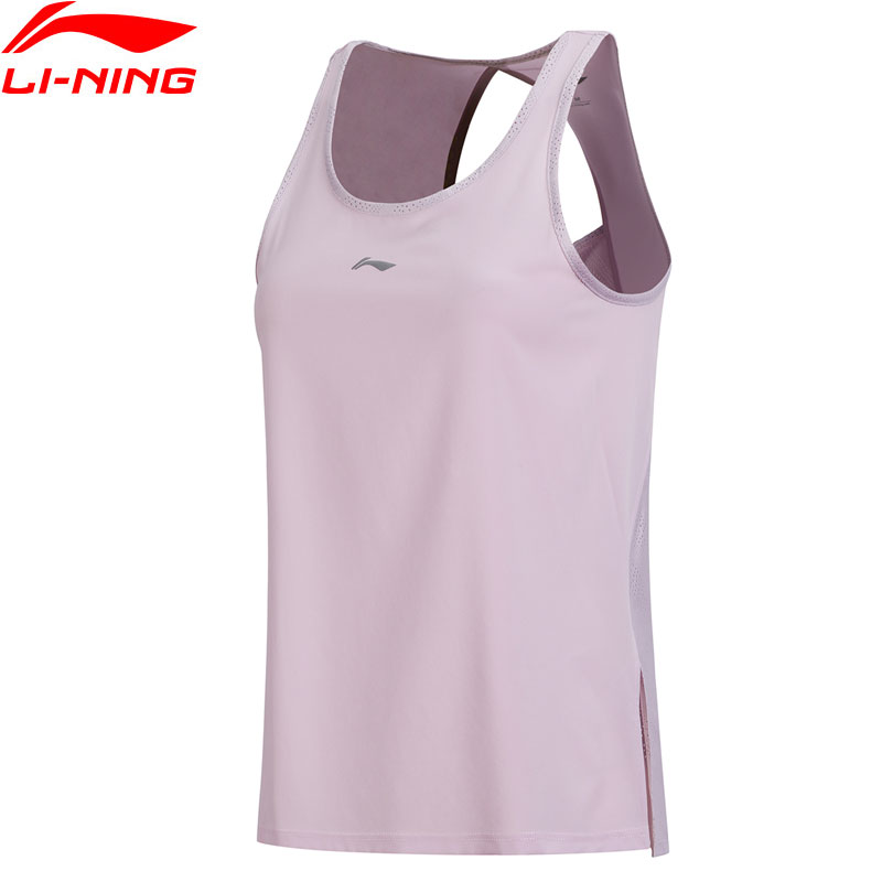 Li Ning Women s Running Jogger Tank Regular Fit 89 Polyester 11 Spandex Breathable Comfort LiNing