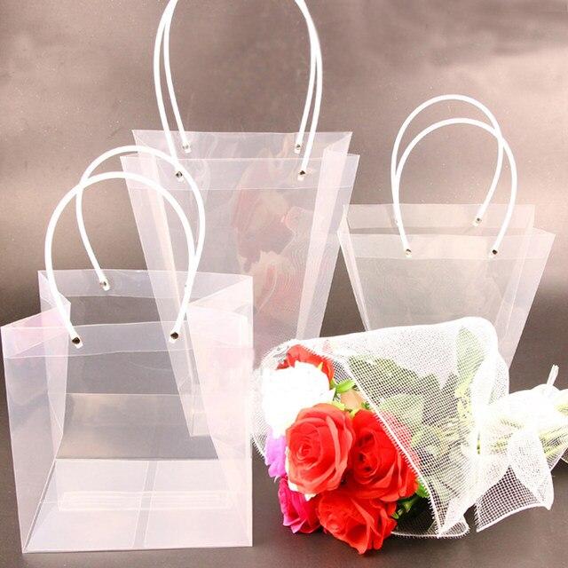 Online shop transparent flower packaging bag flowers pot succulent transparent flower packaging bag flowers pot succulent plant handbags bouquets gift packaging materials florist supply mightylinksfo