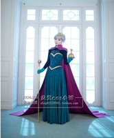 2016 Snow Queen Elsa Costume Custom For Adults Princess Dress Cosplay Costume No Wig No Tool