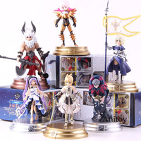 FGO Fate Grand Order Duel Saber Berserket Lancer Ruler Caster Archer Fate Action Figure PVC Collectible Model Toys 6pcs/set