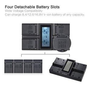Image 3 - Andoer NP F970 4 Channel Digital Camera Battery Charger for Sony NP F550 F750 F950 NP FM50 FM500H QM71 with DC Car Charger
