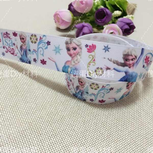 "1 ""25MM new sales 10 yard princess Belle cartoon animals printed grosgrain ribbon cartoon ribbons cloth tape hair accessories"