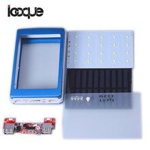 Universal 5V PCBA Motherboard Solar Power Bank Case DIY Box Dual USB with 20Pcs LED 5x18650