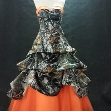 f26a07a99fbec camo prom dress 2019 long camouflage party dresses custom make size 0(China)