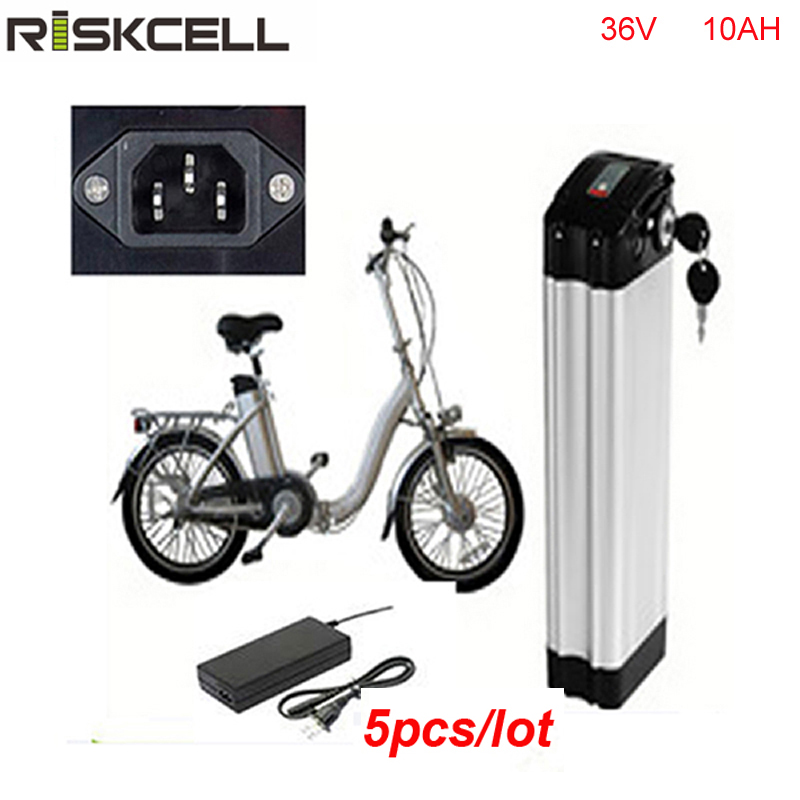 5pcs/lot Silver fish type 18650 li ion cell 36v 10ah electric bike battery pack bafang mid drive 500w bike motor kit with BMS 10s 36v li ion lithium cell 40a 18650 battery protection bms pcb board balance r179t drop shipping
