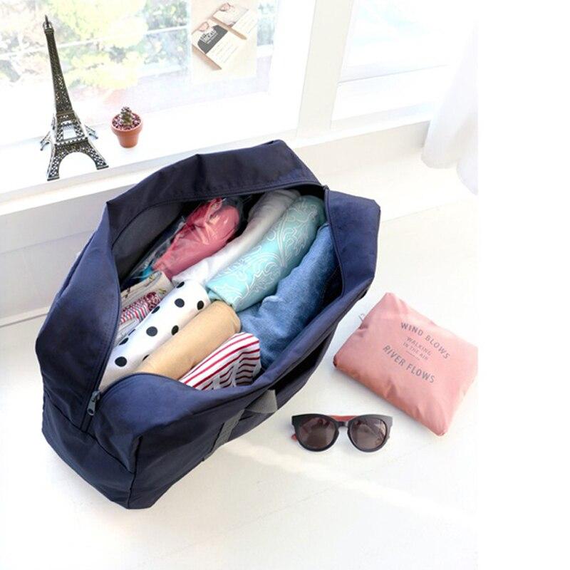 IUX New Fashion Large Capacity Bag Kvinnor Nylon Folding Väska Rese - Väskor för bagage och resor - Foto 2
