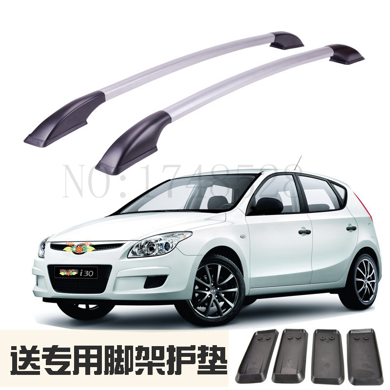 Accessories Refitting the roof rack of aluminum alloy luggage rack for Hyundai i30 Auto parts 1.3M partol black car roof rack cross bars roof luggage carrier cargo boxes bike rack 45kg 100lbs for honda pilot 2013 2014 2015