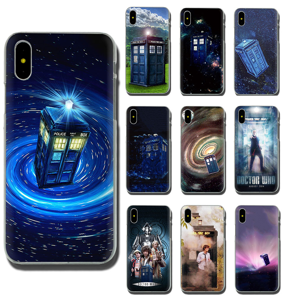 Doctor Who Box Hard Phone Case For Apple Iphone Xr Xs Max X 8 7 6 6s Plus Curing Cough And Facilitating Expectoration And Relieving Hoarseness Half-wrapped Case Phone Bags & Cases