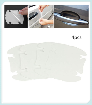 Car shape door handle protective film handle transparent stickers for Ford C-MAX Flex B-MAX Atlas Territory Formula Vertrek image