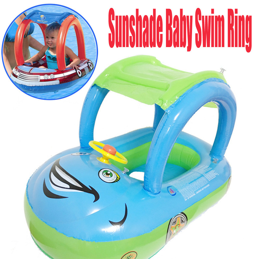 Fascia Per Braccia Summer Baby Swimming Pool Water Toys Ring Float Plate Water Premium New Sunshade Baby Infant Float Seat Car