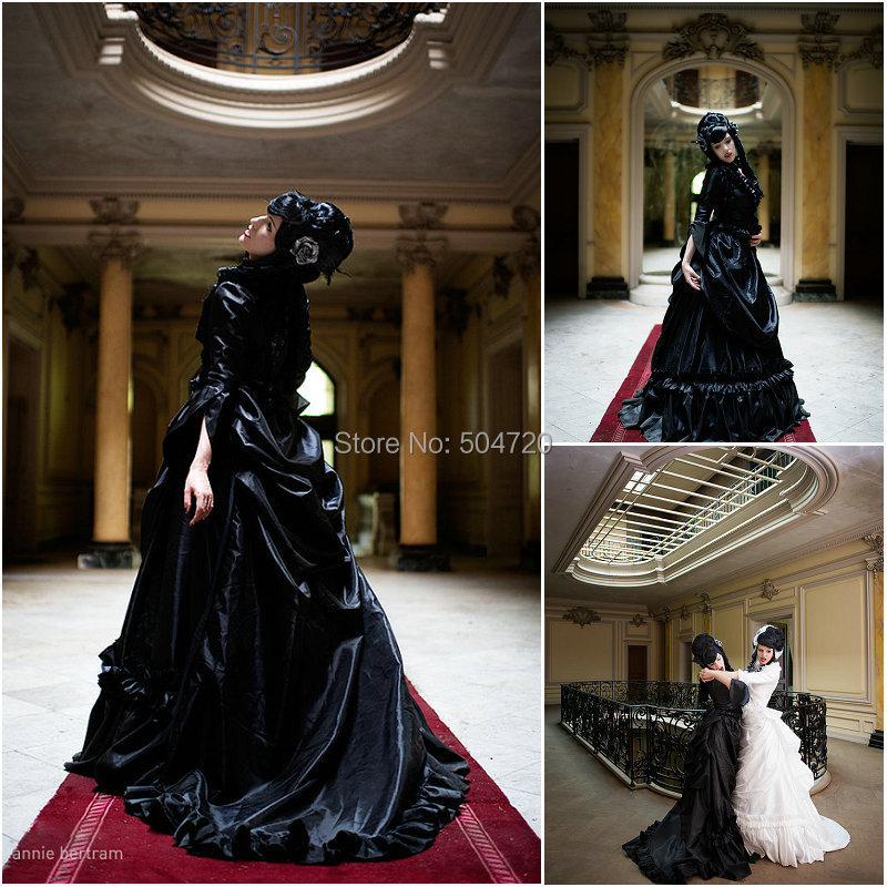 Custom-madeOn sale R-077 19 century Victorian Gothic Lolita Civil War  Southern Belle Ball Halloween dresses Sz US 6-26 XS-6XL 752885ef22c4