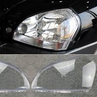 1Pair New Car Left Right Headlamp Clear Lens Cover Head Light Shell For HYUNDAI TUCSON 2005