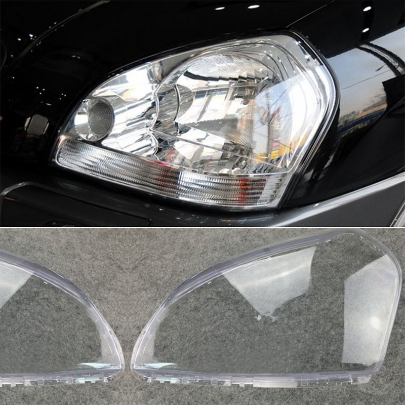 1Pair New Car Left & Right Headlamp Clear Lens Cover Head Light Shell For HYUNDAI TUCSON 2005 2006 2007 2008 2009 for chevrolet lova optra 2006 2007 2008 car headlight headlamp clear lens shell cover driver