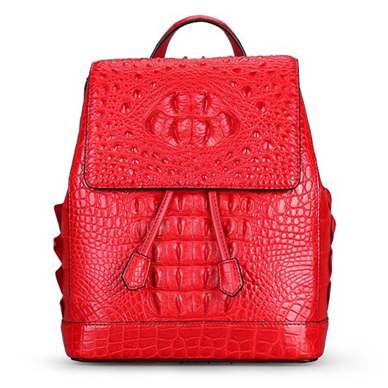 VV New Crocodile skin Double Shoulder Bag pure color buckle lady women backpack business crocodile leather bag red women утюг sinbo ssi 2868 1800вт коричневый