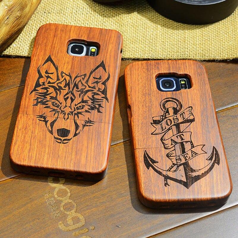 Handytaschen & -hüllen Yuetuo Luxury Real Echten Palisander Fall Für Samsung Galaxy S6 G920 S6 Edge G925 Plus Holz Laser Carving Telefon Abdeckung Holz Letzter Stil
