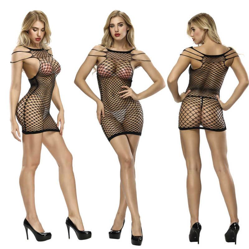 2019 ผู้หญิงใหม่เสื้อผ้าบอดี้สูทผู้หญิงเซ็กซี่ Fishnet ร่างกายต้นขาสูงลูกไม้เซ็กซี่สุภาพสตรีดูผ่าน Charming bodysuits