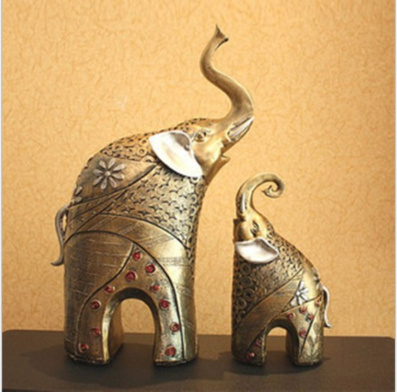 2015 latest design mom and baby elephant for home decoration or office decoration - Elephant Home Decor