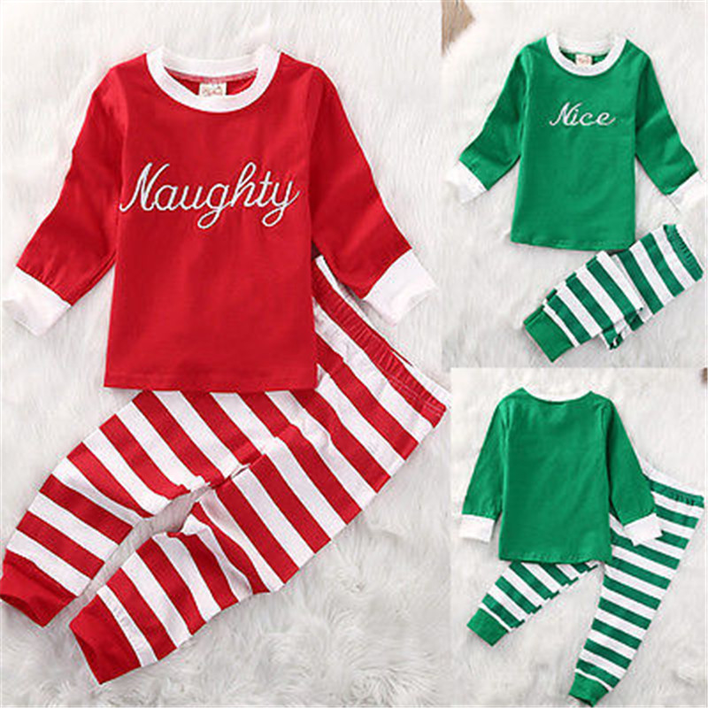 Newbaby Christmas Striped Infant Baby Onesie Boys Girls