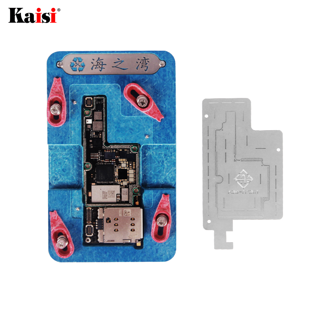3D BGA Reballing Stencil Kit For IPhone X Motherboard  Middle Layer Planting Platform Plate Soldering Net