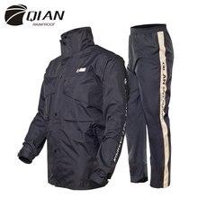 QIAN 불 침투성 비옷 여성/남성 정장 비옷 야외 후드 여성 비옷 오토바이 낚시 캠핑 비옷 남성 코트