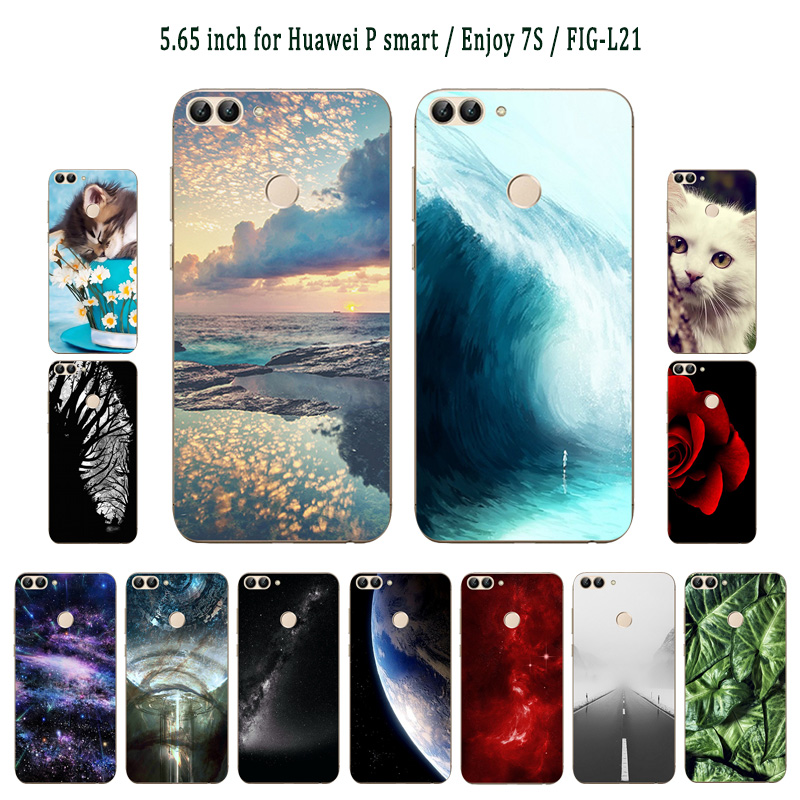 Phone Funda For Huawei P Smart Enjoy 7s Dynamic Liquid Quicksand Case Fig-lx1 Fig-lx3 Fig-l21 Fig-la1 Soft Silicone Bumper Cover Phone Bags & Cases