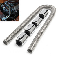 High quality 48 Stainless Steel Universal Radiator Flexible Coolant Water Hose Kit With Caps