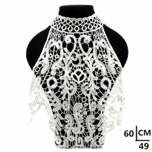 3d Cotton White Lace Fabric Collar For Needlework Embroidery Venise Lace Fabric Applique Guipure Diy Craft For Sewing The Dress