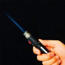 Горячая Распродажа, наружная зажигалка, 1300 градусов, факел, струйный карандаш с пламенем, Бутан, газ, многоразовая топливная сварка, паяльная ручка